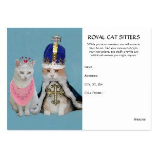 Canguro del gato plantilla de tarjeta de negocio