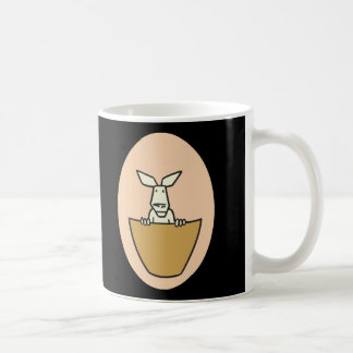 canguro del joey del bebé en bolsillo taza de café