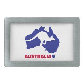 Canguro del mapa de Australia Hebillas De Cinturón Rectangulares