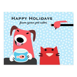 Canguro del mascota buenas fiestas postal