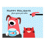 Canguro del mascota buenas fiestas postales
