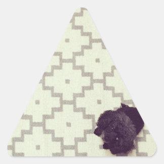Canguro del mascota pegatina triangular