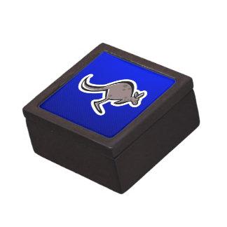 Canguro lindo; Azul Cajas De Joyas De Calidad
