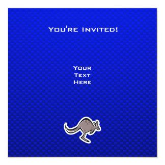 """Canguro lindo; Azul Invitación 5.25"""" X 5.25"""""""