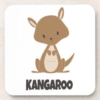 Canguro lindo del australiano interior posavaso