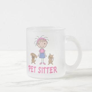 Canguro lindo del mascota del empleo del perro taza de café