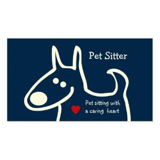 Canguro lindo del mascota tarjetas de visita