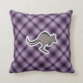 Canguro lindo; Púrpura Almohadas