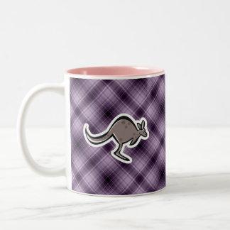 Canguro lindo; Púrpura Taza De Dos Tonos