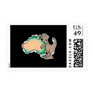 canguro lindo que abraza Australia Timbres Postales