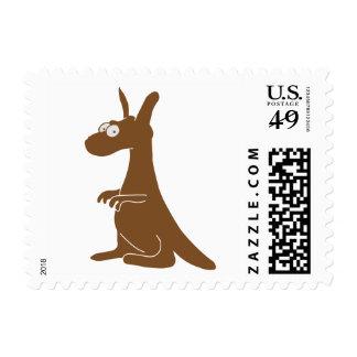 Canguro lindo sello