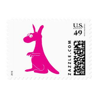 Canguro lindo timbres postales