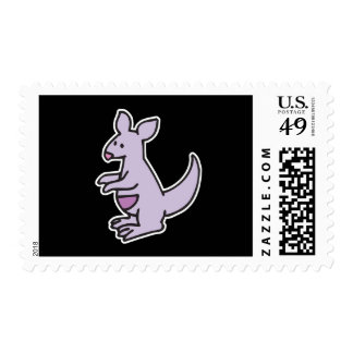 canguro púrpura lindo sellos postales