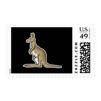 canguro realista sellos postales