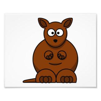 Canguro redondo lindo del dibujo animado fotos