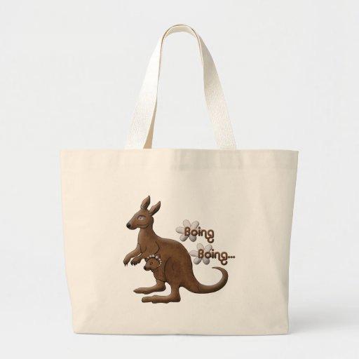 Canguro y canguro del bebé en bolsos de la lona de bolsa tela grande
