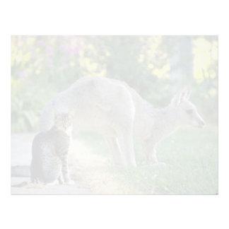 Canguro y gato grises del este, Australia la Flori Membretes Personalizados