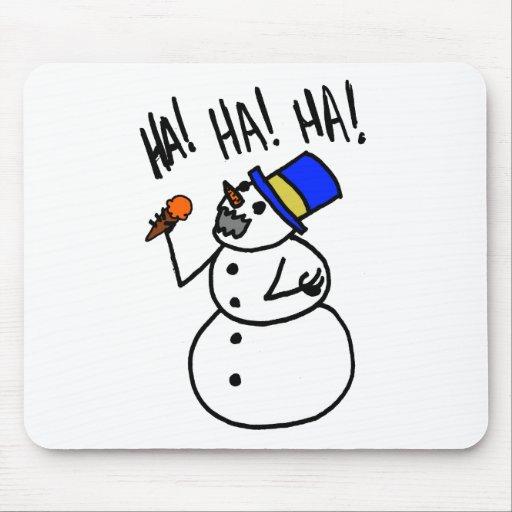 Caníbal del muñeco de nieve tapete de raton