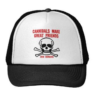 Caníbales divertidos gorras