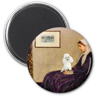 Caniche (14W) - Whistler' madre de s Imán Redondo 5 Cm