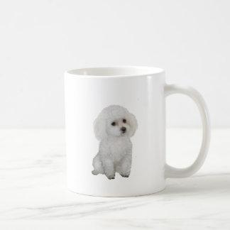 Caniche - blanco 1 tazas