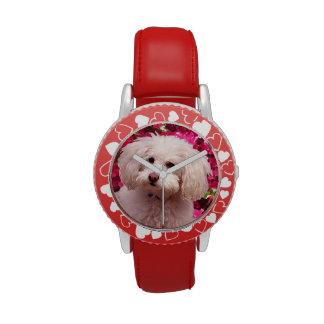 Caniche bonito reloj de mano