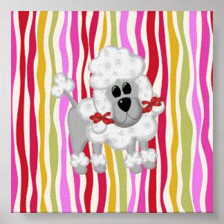 Caniche colorido colosal impresiones