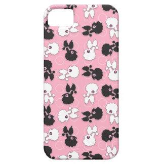 Caniche Cuties en el rosa - personalizar iPhone 5 Case-Mate Fundas