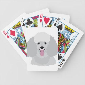 Caniche de juguete baraja cartas de poker
