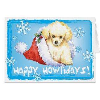 Caniche de juguete feliz de Howliday Tarjeta De Felicitación