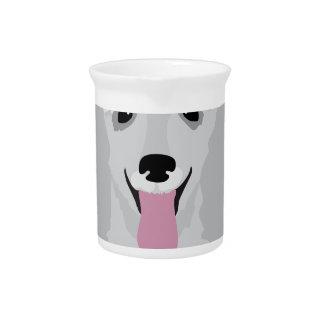 Caniche de juguete jarra para bebida