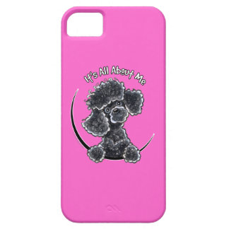Caniche de juguete negro IAAM iPhone 5 Fundas