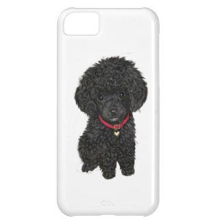 Caniche de la miniatura o de juguete - negro 1 funda para iPhone 5C