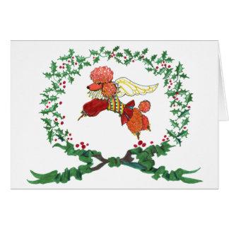 ¡Caniche del albaricoque que raspa para la Tarjeta De Felicitación
