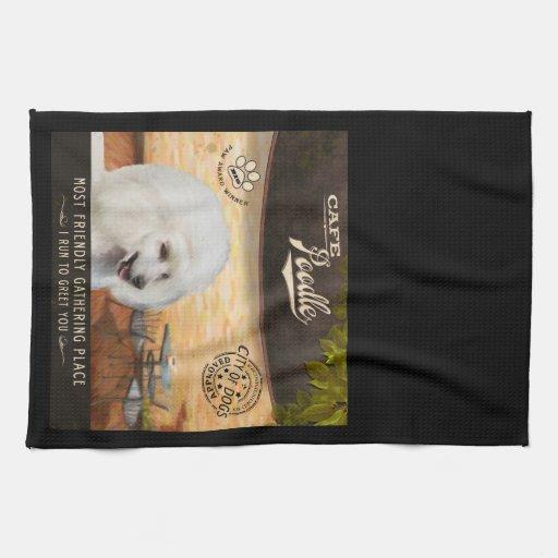 Caniche del café toalla