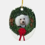 Caniche del navidad adornos