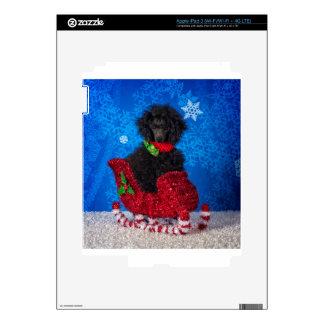 Caniche del navidad pegatina skin para iPad 3