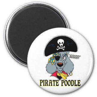Caniche del pirata imán redondo 5 cm