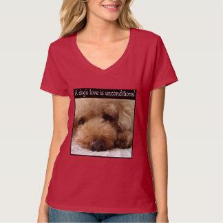 Caniche - el amor de un perro es uncontitional remera
