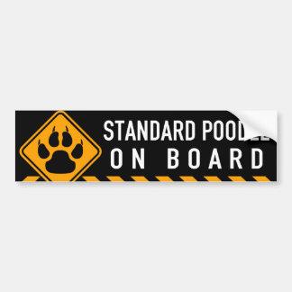 Caniche estándar a bordo pegatina para coche