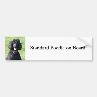 Caniche estándar a bordo pegatina para el parachoq etiqueta de parachoque