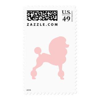 Caniche estándar acortado (en rosa claro) sello