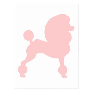 Caniche estándar acortado (en rosa claro) tarjetas postales