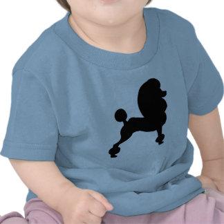 Caniche estándar acortado camiseta