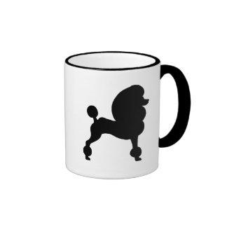 Caniche estándar acortado taza de café