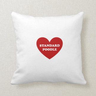 Caniche estándar almohadas