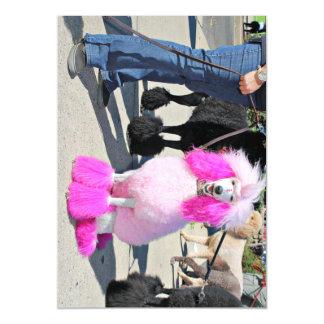 Caniche estándar rosado del día 2016 del caniche - invitaciones magnéticas