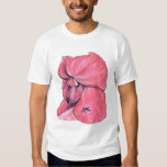 Caniche estándar rosado playera
