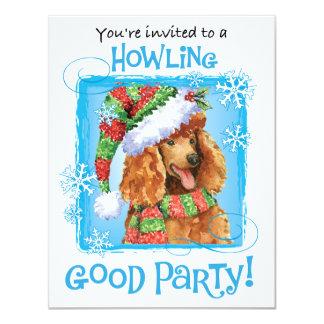"""Caniche feliz de Howliday Invitación 4.25"""" X 5.5"""""""