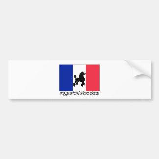 Caniche francés pegatina para auto